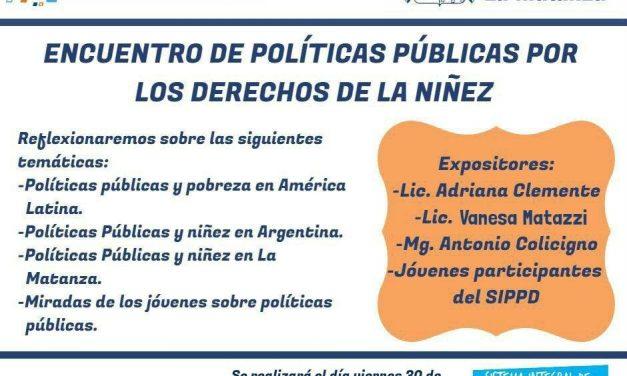 LA DIRECTORA DEL CEC.SOCIALES PARTICIPÓ DEL «ENCUENTRO DE POLITICAS PUBLICAS POR LOS DERECHOS DE LA NIÑEZ»