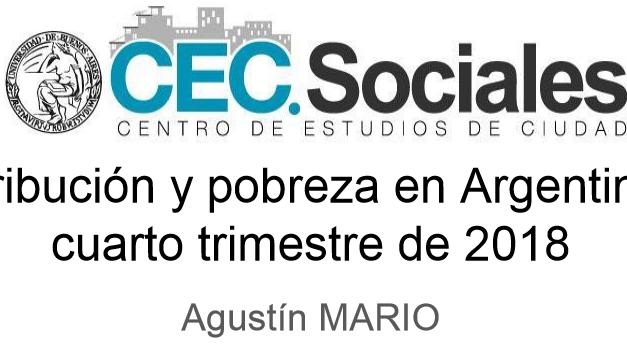 Informe de Coyuntura n° 13: Distribución y pobreza en Argentina al cuarto trimestre de 2018